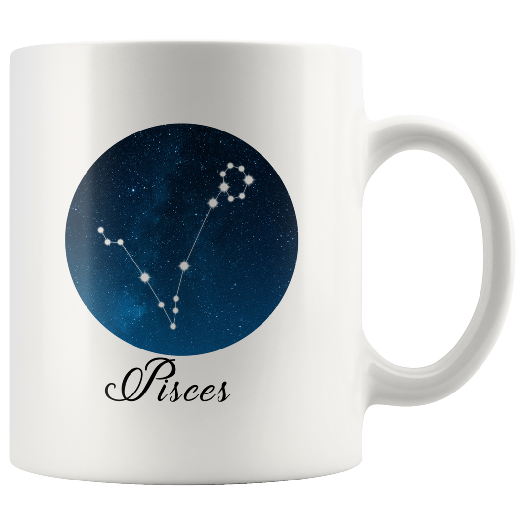 Pisces Coffee Mug - Pisces Constellation Mug