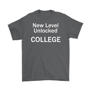 New Level Unlocked College Mens T-Shirt