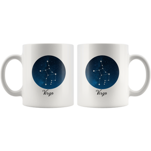 Virgo Coffee Mug: Virgo Constellation Mug