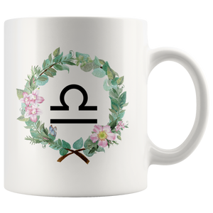 Libra Coffee Mug - Wreath Design