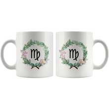 Virgo Zodiac Mug - Wreath Design