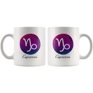 Capricorn Mug - Capricorn Symbol Astrology Horoscope Zodiac Coffee Mug - Gift for Capricorn
