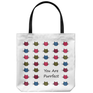 You Are Purrfect Cat Tote Bag