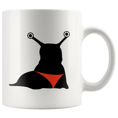 Red Thong Slug Slut Joke Coffee Mug - Pun Mugs