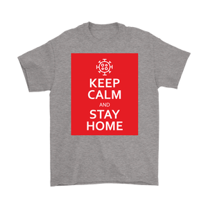 Keep Calm & Stay Home Men's T-Shirt with Coronavirus Symobl