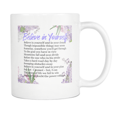 Believe in Yourself Inspirational Poem Floral Mug