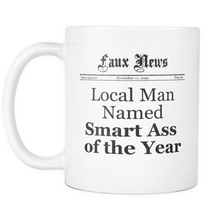 Local Man Named Smart Ass of the Year Newspaper Mug