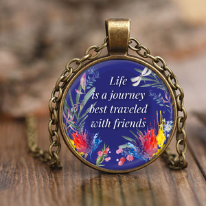 Life Is A Journey Friendship Necklace