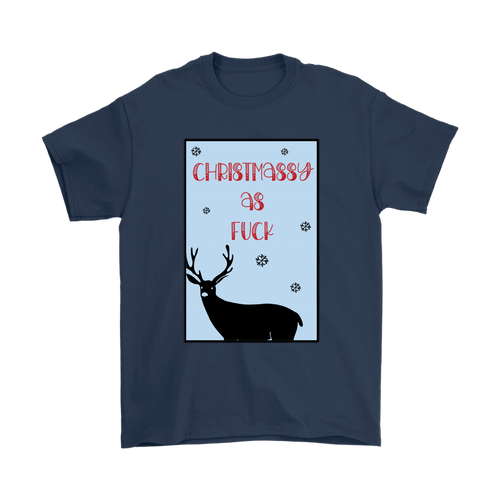 Christmassy AF Funny Swearing T-Shirt For Men