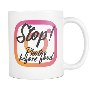 Stop! Photos Before Food Mug
