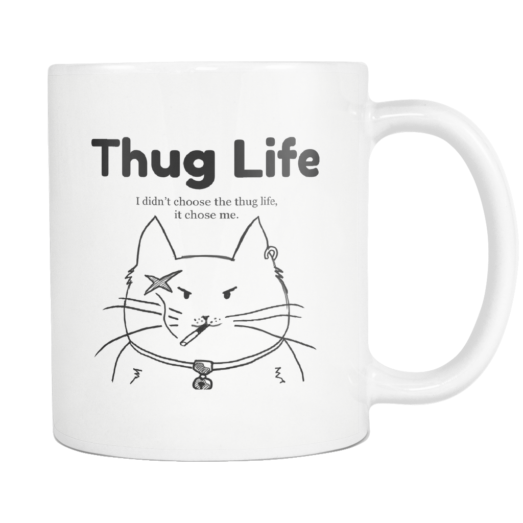 Thug Life Cat Coffee Mug