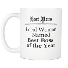 Local Woman Named Best Boss of the Year Mug