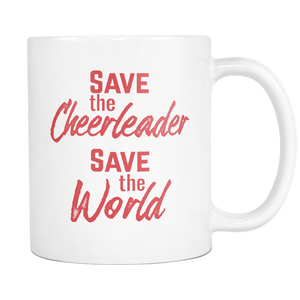 Save the Cheerleader, Save the World Pop Reference Mug