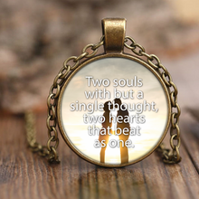 Two Souls With But a Single Thought John Keats Love Quote Pendant Necklace