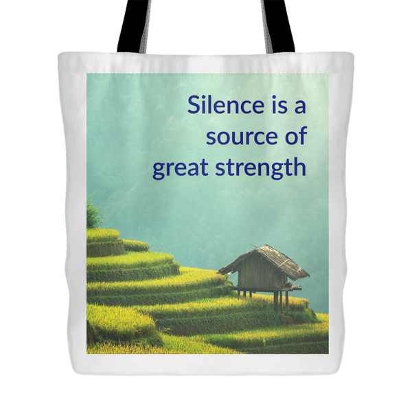Silence Is Strength Tote Bag