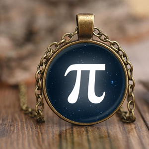 Pi Archimedes' Constant Starry Night Pendant Necklace