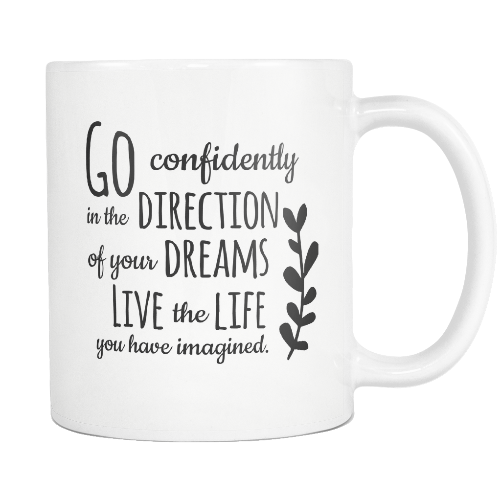 Go Confidently Henry David Thoreau Quote Mug