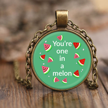 One in A Melon Pendant Necklace