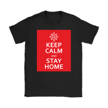 Keep Calm & Stay Home Women's T-Shirt with Coronavirus Symobl
