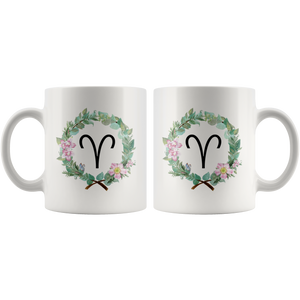 Aries Coffee Mug - Wreath Design