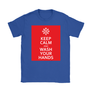 Keep Calm And Wash Your Hands Women's T-shirt feat. Coronavirus Symbol
