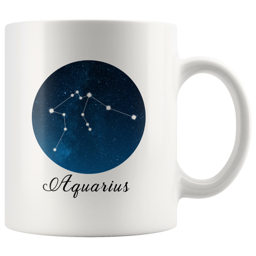 Aquarius Constellation Mug - Tea Cup 11oz Coffee Mug - Astrology Horoscope Zodiac Mug