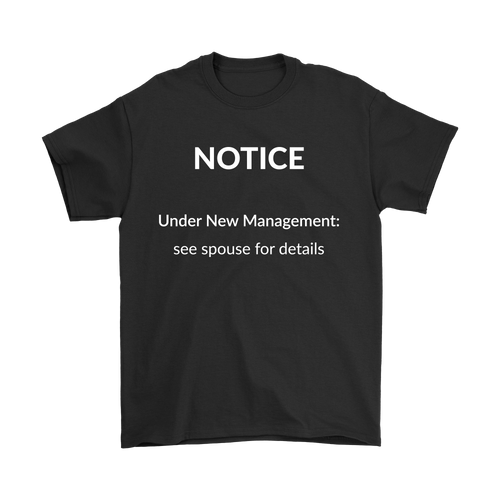 Retirement Notice T-Shirt (dark colors)