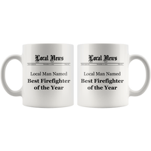 Local Man Named Best Firefighter of the Year Mug