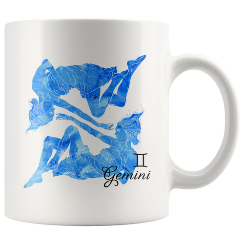 Gemini Mug - Watercolor Design