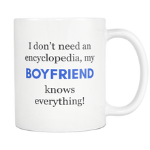 My Boyfriend Knows Everything Encyclopedia Mug