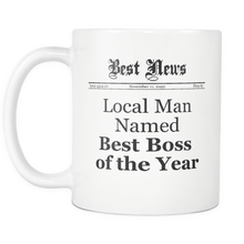 Local Man Named Best Boss of the Year Newspaper Mug
