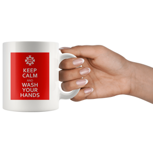 Keep Calm And Wash Your Hands Mug feat. Coronavirus Symbol