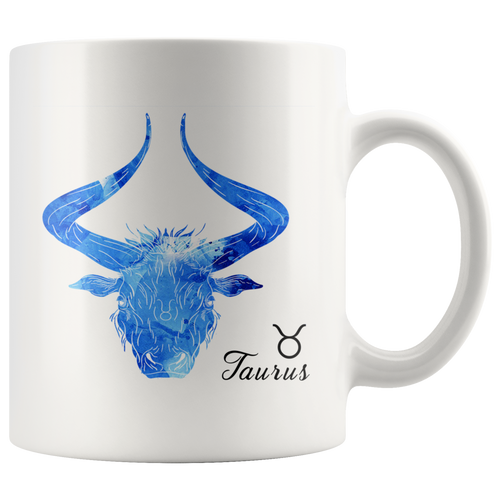 Taurus Mug - Watercolor Design