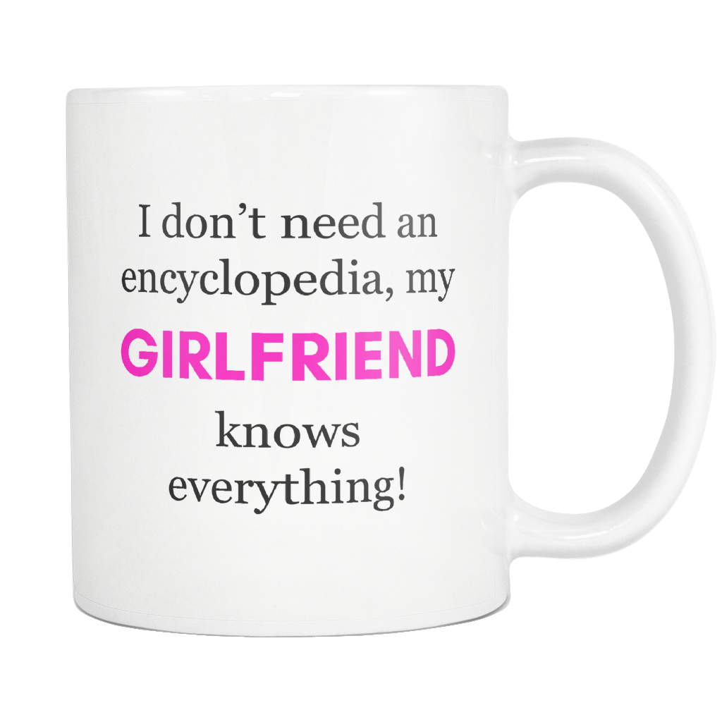 My Girlfriend Knows Everything Encyclopedia Mug