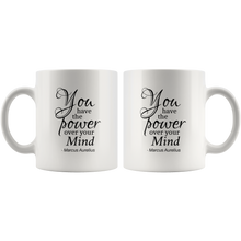 You Have The Power Over Your Mind - Marcus Aurelius Mug (With Author's Name)