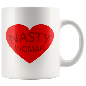 Nasty Woman Red Heart Coffee Mug