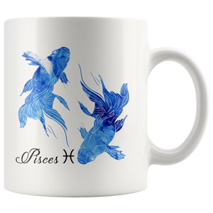 Pisces Mug - Watercolor Design