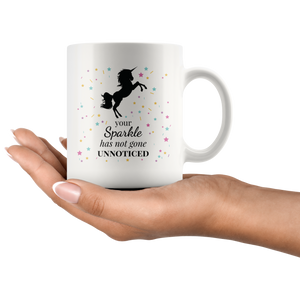 Unicorn Sparkle Motivational Quote Mug