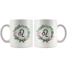 Wreath Design Mug - Leo Coffee Mug