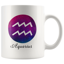 Aquarius Symbol Coffee Mug - Astrology - Horoscope - Tee Cup - Aries Zodiac Mug