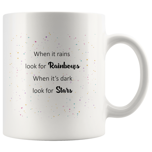 When It Rains Oscar Wilde Quote Mug