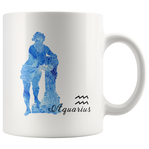 Aquarius Mug - Watercolor Design