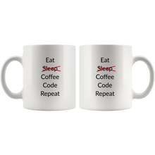 Eat Sleep Code Repeat Coffee Mug