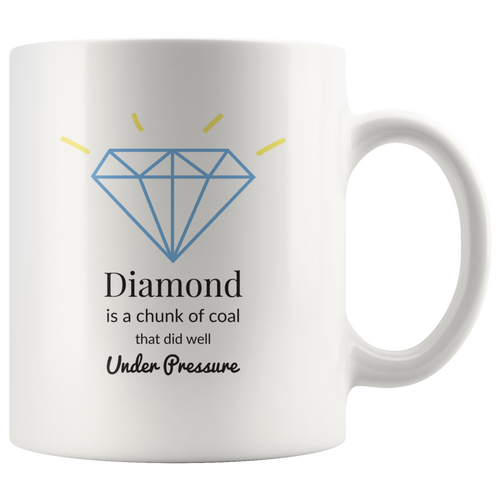 Diamond Inspirational Quote Mug