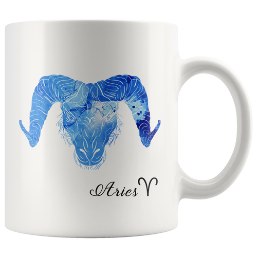 Aries Mug - Watercolor Design