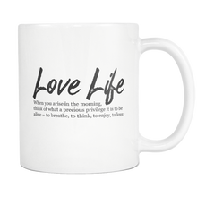 Love Life Inspirational Quote Mug - Roman Emperor Marcus Aurelius Quote