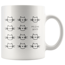 Feline Good: Cat Face Coffee Mug - Cat Lover Mug Tea Cup - Gift for Cat Lovers, Animal Lovers