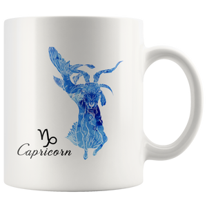 Capricorn Mug - Watercolor Design