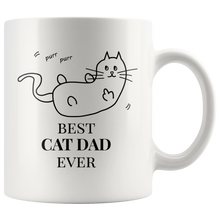 Best Cat Dad Ever Mug - 11oz Coffee Mug for Cat Dads - Cat Mug Tea Cup - Pet Lover Cat Lover