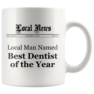 Local Man Named Best Dentist of the Year Mug